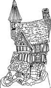 cottage - stock illustration
