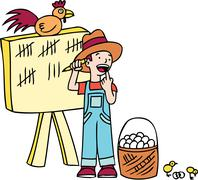 dont count chickens before they hatch - stock illustration