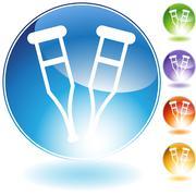Crutch crystal icon Stock Illustration