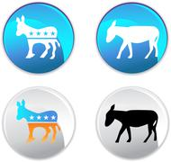 Campaign party buttons Stock Illustration