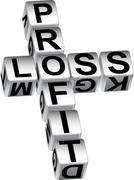 profit loss dice - stock illustration