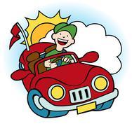 convertible car - stock illustration