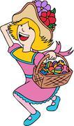 easter egg hunt - stock illustration