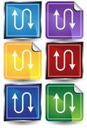 ethernet icon - stock illustration