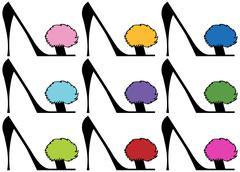 lady's high heels - set - stock illustration