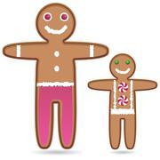 Stock Illustration of gingerbread man