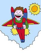 Jetpack adventure Stock Illustration