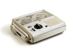 mini old tape recorder - stock photo