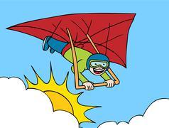 Hang gliding adventure Stock Illustration
