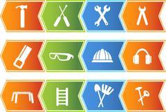 hardware icons - stock illustration