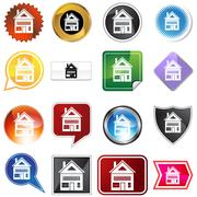 Multiple buttons - home Stock Illustration