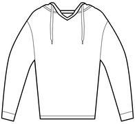 Hooded pullover shirt Stock Illustration