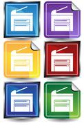 Office device Stock Illustration
