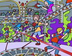 laser tag - stock illustration