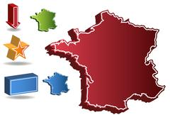 Stock Illustration of 3d france country map