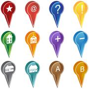 Realty marker icons Stock Illustration