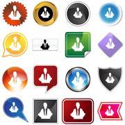 Meditation concept variety set Stock Illustration