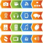 Stock Illustration of multimedia buttons