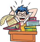 No more homework Stock Illustration