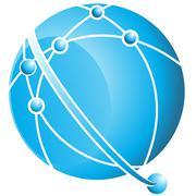 orbit ball - stock illustration