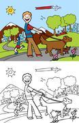 animal walker - stock illustration