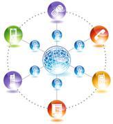 Global phone Stock Illustration