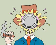 Pie in face Stock Illustration