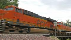 4K Fast Freight Train Stock Footage