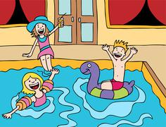 Children's pool party Stock Illustration