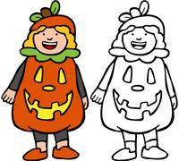 Stock Illustration of pumpkin outfit
