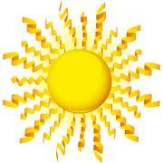 sun ribbon - stock illustration