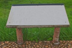 Blank billboard in the public park Stock Photos