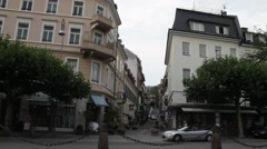 Stock Video Footage of Augusta square (Augusta platz). Baden-Baden. Germany