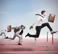 Business competition Stock Illustration