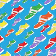 shoe pattern / print - stock illustration