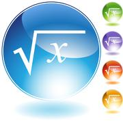 Square root crystal icon Stock Illustration