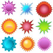 Stock Illustration of starburst stickers: bursters