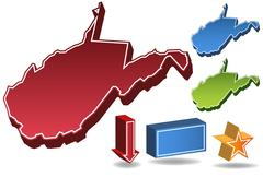 Stock Illustration of west virginia 3d