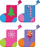 Christmas stockings Stock Illustration