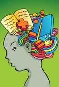 Student thoughts Stock Illustration