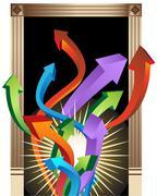 Doorway to success Stock Illustration