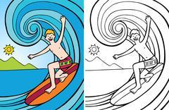 Surfer Stock Illustration