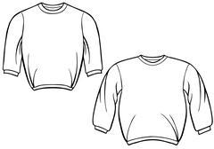 Sweatshirt set Stock Illustration