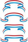 ribbon set - patriotic - stock illustration