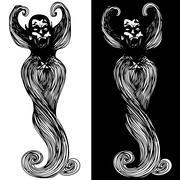 Vampire Stock Illustration
