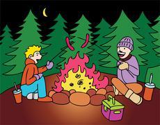 Weenie roast Stock Illustration