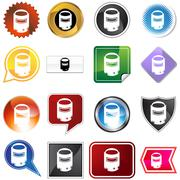 Welding mask icon set Piirros