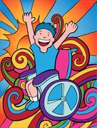 Stock Illustration of wheelchair adventurer