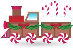 Candy train Stock Illustration