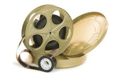 35mm film in reel and its can Stock Photos